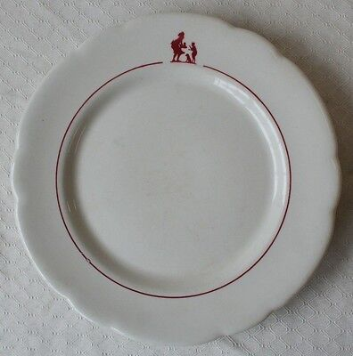 "Howard Johnson Restaurant Plate Pieman 9"" Buffalo China"