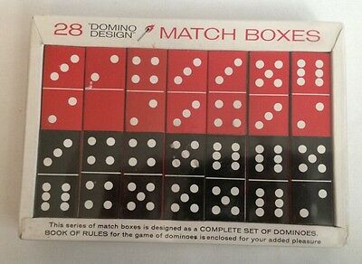 28 Domino Design Match Boxes 1965 AMCO Associated Match Companies