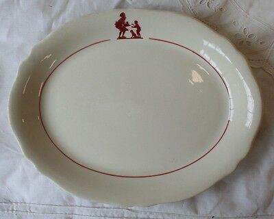 "Howard Johnson's Restaurant Oval Platter Pieman 8"" Mayer China 263"