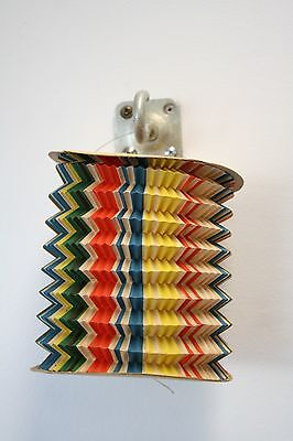 """Vintage Paper Lantern Made in Occupied Japan Accordion 5"""" dia. Party Candle"""