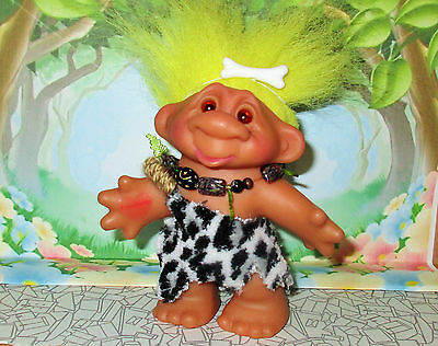 CAVEMAN TROLL doll remake original hair 4 inch cavegirl custom bone DAM