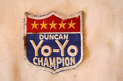 Vintage Duncan Yo- Yo Champion Patch From  70's   3' X 3""
