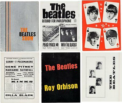 The Beatles -- Very Rare Collection of Three Vintage Tour Programs (UK, 1963-65)