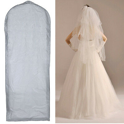 Wedding Dress Bridal Gown Garment Cover Storage Bag Carrier Zip Suit Bag