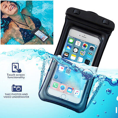 Floating Waterproof Bag Underwater Dry Pouch Case+Lanyard for iPhone 8/7/6s/Plus