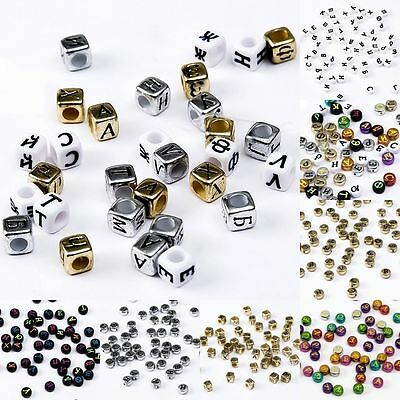DIY Jewelry 200pcs Mixed Alphabet/Letter Acrylic Cube Beads gift for loved ones