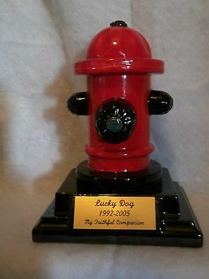 Pet/Urn cremation/memorial/SMALL/ Fire Hydrant on base