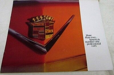 1974 Cadillac Dealer Large Sales Brochure Professional Cars Limo Hearse Rare