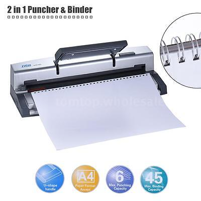 DSB Portable A4 Paper Puncher Binder Punch 34/32 Hole 6.4mm Wire Binding Machine