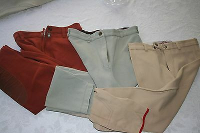 Youth Equestrian English Riding Breeches Size 24 & 26