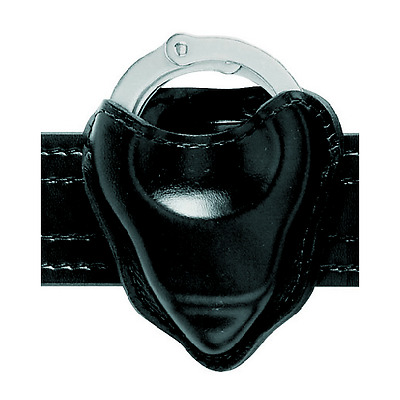 Safariland 090-9 Black Hi-Gloss Open-Top Formed Chain ONLY Handcuff Pouch