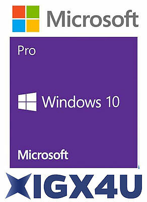 Microsoft Windows 10 Pro Professional 32/64bit Digital License OEM Download Key
