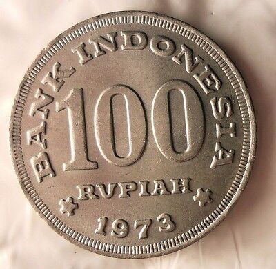 1973 INDONESIA 100 RUPIAH - Great Collectible - FREE SHIPPING - Indonesia Bin A