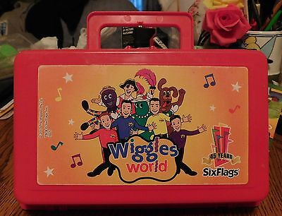 "The Original Wiggles ""Six Flags"" Wiggles World Red Case Pencil Box 2007"