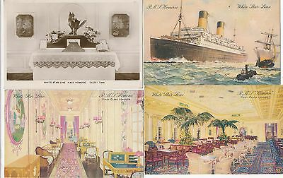 Postcard S S Homeric white star line x 4 cards 40