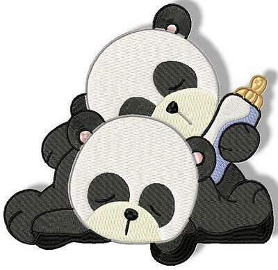 Panda's 10 Machine Embroidery Designs Cd Includes 3 Sizes