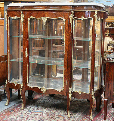 Louis-seize SALON VITRINE ca.160x140cm, CABINET, Schrank, FRENCH DISPLAY CABINET