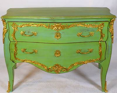 BAROCK KOMMODE ANTIK-grün ca.130x90cm SIDEBAORD BAROQUE COMMODE CHEST of DRAWERS