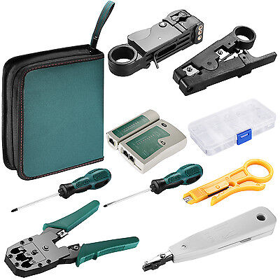 Neewer Network Cable Tester Wire Crimp LAN RJ45 RJ11 CAT5 Analyzer Tool Kit