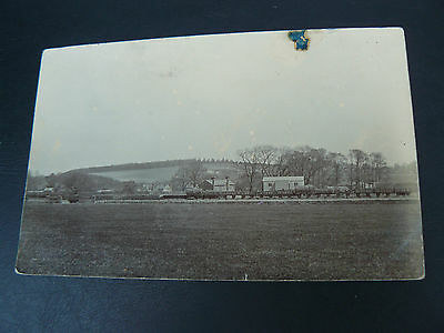 Real Photo RP Postcard - Faringdon Goods Siding - Railway - Oxfordshire - Hallum