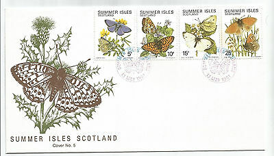 Summer Isles 1981 Butterflies Set Of 4 On First Day Cover