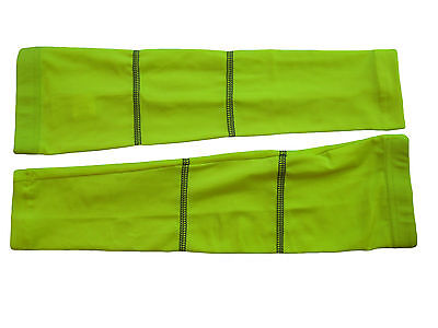 Arm Covers Warmers Spring Lycra Non Fleecy Hi Vis Goodstar Large