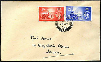 GB FDC 1948 Channel Islands Liberation, Jersey CDS #C41819