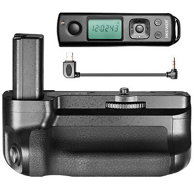 Neewer LCD 2.4GHz 100M Wireless Remote Control Battery Grip for Sony A6500