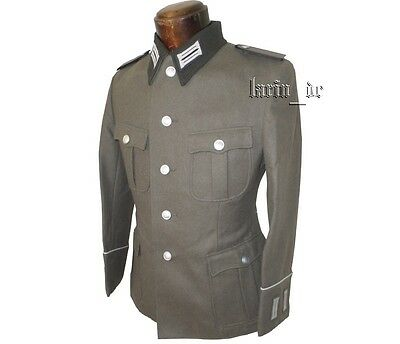 DDR NVA Uniform Jacke schwarzen Kragen Ärmelpatten east german dark collar tunic