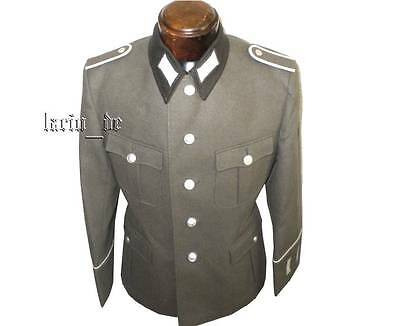 DDR NVA Uniform Jacke k52 (Ärmelpatten sc Kragen ) east german dark collar tunic