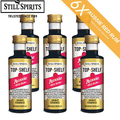 6 x Still Spirits Top Shelf Aussie Red Rum spirit  Essence Home Brew  Free Shipp