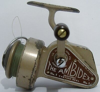 """Young of Redditch """"The Ambidex"""" No 1 Vintage Fishing Reel"""