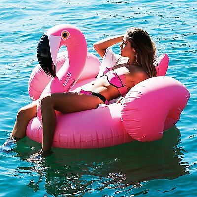 Inflatable Giant Flamingo Shaped Pool Float Ring Raft Swimming Water Fun Single