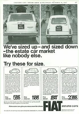 1967 Fiat Estate Cars B/w Magazine Advert