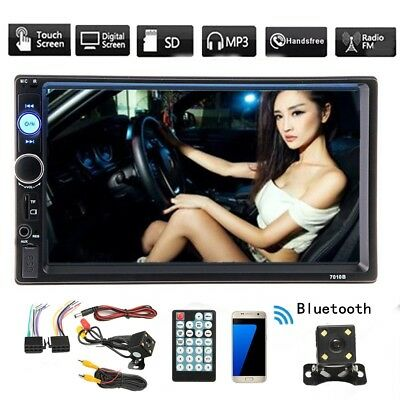 Winksoar 7'' Touch Screen Player 2 Din Car Stereo FM MP5 TFT Bluetooth Camera