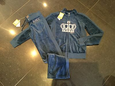 NWT Juicy Couture New & Gen. Teal Velour Full Tracksuit Girls Age 14 With Logo
