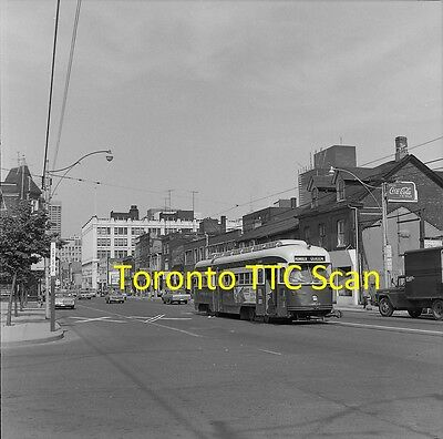Toronto Transit Commission (Ttc) Original B&w Trolley Negative Pcc 4659 In 1968