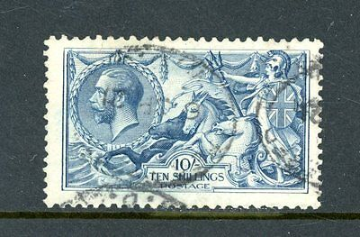 Great Britain  1918  10s Seahorse  (SG 417)  used  (Faults)   (J1307)