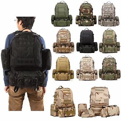 50L Military Molle rucksack Army rucksack with waist pack Tactical backpack Bag