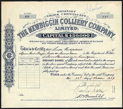 Newbiggin Colliery Co. Ltd., 1937