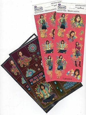 Selena Gomez Wizards of Waverly Place Stickers Collection Lot Hallmark