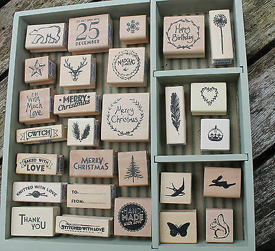 East of India rubber stamps Christmas Wedding  wooden stamp gift tags crafts
