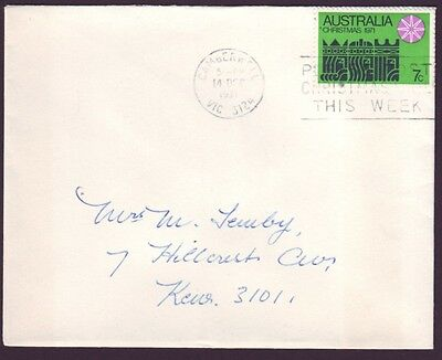 1971 COMMERCIAL COVER WITH SOLO 7c CHRISTMAS (RU3074)