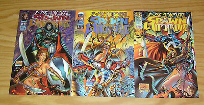 Medieval Spawn/Witchblade #1-3 VF/NM complete series GARTH ENNIS image comics 2