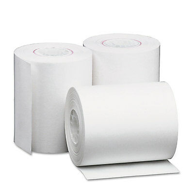 """Single-Ply Thermal Paper Rolls, 2 1/4"""" X 80 Ft, White, 50/carton-UNV35760"""