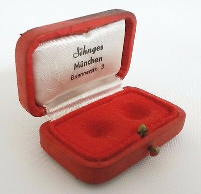 Vintage Optic Haptic Lens Box Red Chamois Leather Sohnges Germany Scleral