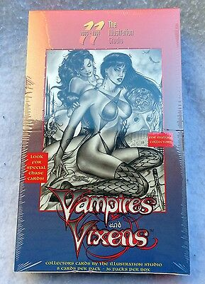 Don Paresi's Vampires and Vixen Trading Card Foil Box + 4 Card Promo Set SIGNED!
