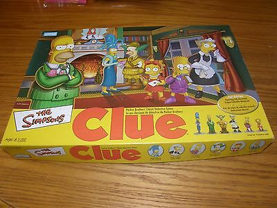 SIMPSONS CLUE Board Game 2nd Edition Complete minus instructions VGC