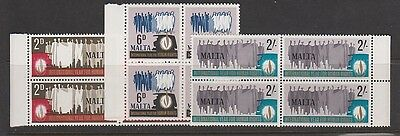 MALTA 381-6, 394-6 Complete sets 1968 blocks mint NH