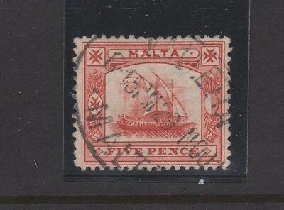 MALTA 16 5p Galley 1899 used